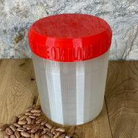 One Litre Pearl Container with Red Lid - Plastic Free Biodegradable