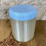 One Litre Pearl Container with Light Blue Lid - Plastic Free Biodegradable