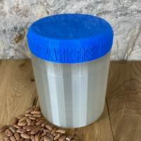 One Litre Pearl Container with Blue Lid - Plastic Free Biodegradable