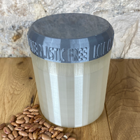 One Litre Pearl Container with Silver Lid - Plastic Free Biodegradable