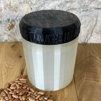 One Litre Pearl Container with Black Lid - Plastic Free Biodegradable