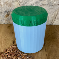 One Litre Light Blue Container with Dark Green Lid - Plastic Free Biodegradable