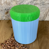 One Litre Light Blue Container with Light Green Lid - Plastic Free Biodegradable