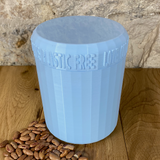 One Litre Light Blue Container with Light Blue Lid - Plastic Free Biodegradable