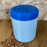 One Litre Light Blue Container with Blue Lid - Plastic Free Biodegradable