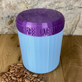 One Litre Light Blue Container with Purple Lid - Plastic Free Biodegradable