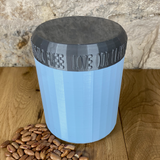 One Litre Light Blue Container with Silver Lid - Plastic Free Biodegradable
