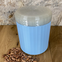 One Litre Light Blue Container with Pearl Lid - Plastic Free Biodegradable