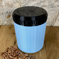 One Litre Light Blue Container with Black Lid - Plastic Free Biodegradable