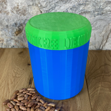 One Litre Blue Container with Light Green Lid - Plastic Free Biodegradable