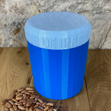 One Litre Blue Container with Light Blue Lid - Plastic Free Biodegradable