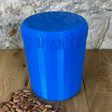One Litre Blue Container with Blue Lid - Plastic Free Biodegradable