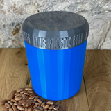 One Litre Blue Container with Silver Lid - Plastic Free Biodegradable