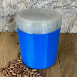 One Litre Blue Container with Pearl Lid - Plastic Free Biodegradable