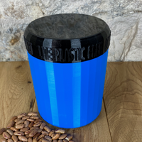 One Litre Blue Container with Black Lid - Plastic Free Biodegradable