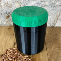 One Litre Black Container with Dark Green Lid - Plastic Free Biodegradable