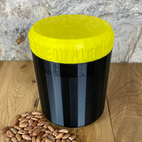 One Litre Black Container with Yellow Lid - Plastic Free Biodegradable