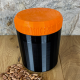 One Litre Black Container with Orange Lid - Plastic Free Biodegradable