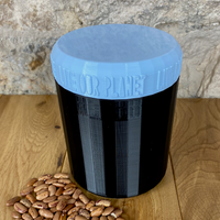 One Litre Black Container with Light Blue Lid - Plastic Free Biodegradable