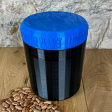 One Litre Black Container with Blue Lid - Plastic Free Biodegradable