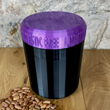 One Litre Black Container with Purple Lid - Plastic Free Biodegradable