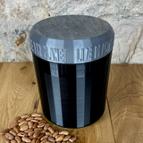 One Litre Black Container with Silver Lid - Plastic Free Biodegradable