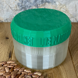 Half Litre Pearl Container With Dark Green Lid  - Plastic Free Biodegradable
