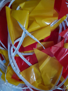 Plastic Vinyl Triangle Red Yellow Bunting