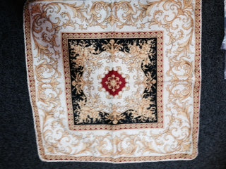 Cushion -  Tapestry - Red Gold 2 600sq