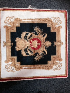 Cushion -  Tapestry - Red Gold  600sq