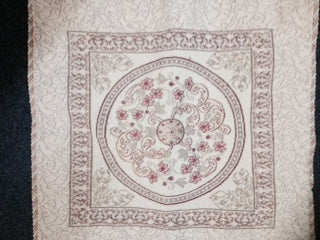 Cushion -  Tapestry - Beige Pink  600sq