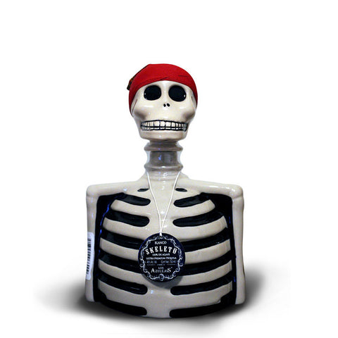 Los Azulejos Blanco Tequila Skeleton Bottle