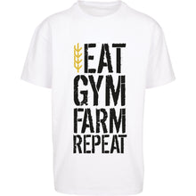 Load image into Gallery viewer, Men's Eat Gym Farm Repeat Tee