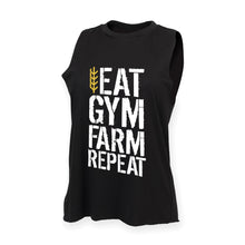 Load image into Gallery viewer, Men's Eat Gym Farm Repeat Tank