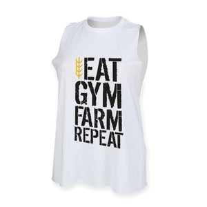 Men's Eat Gym Farm Repeat Tank