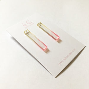 Ombre Stick Stud Earrings