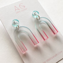 Load image into Gallery viewer, Ombre Arc Dangle Stud Earrings