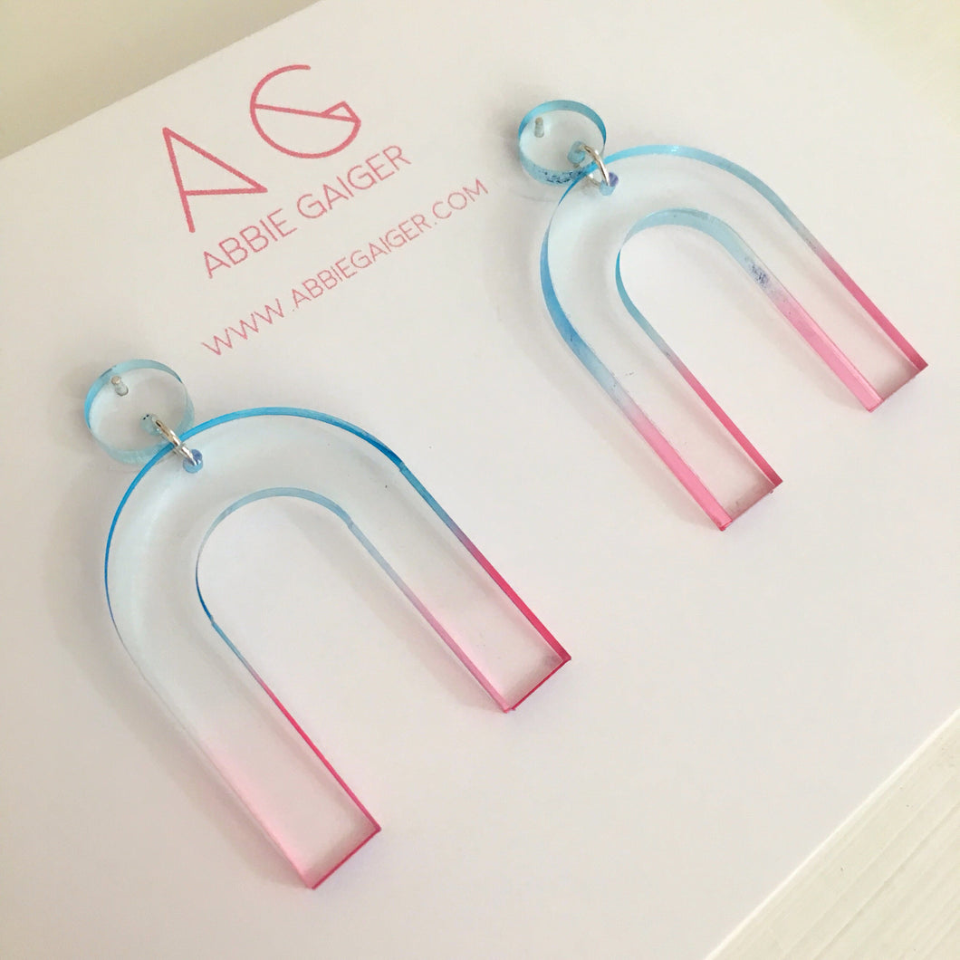 Ombre Giant Arc Earrings