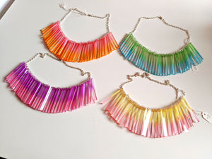 SALE - Chroma Long Cluster Necklace