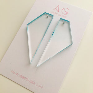 Ombre Geo Stud Earrings