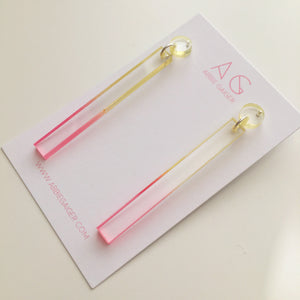 Ombre Stick Stud Drop Earrings