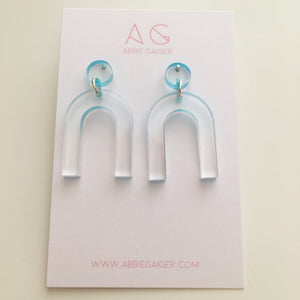 Ombre Arc Dangle Stud Earrings