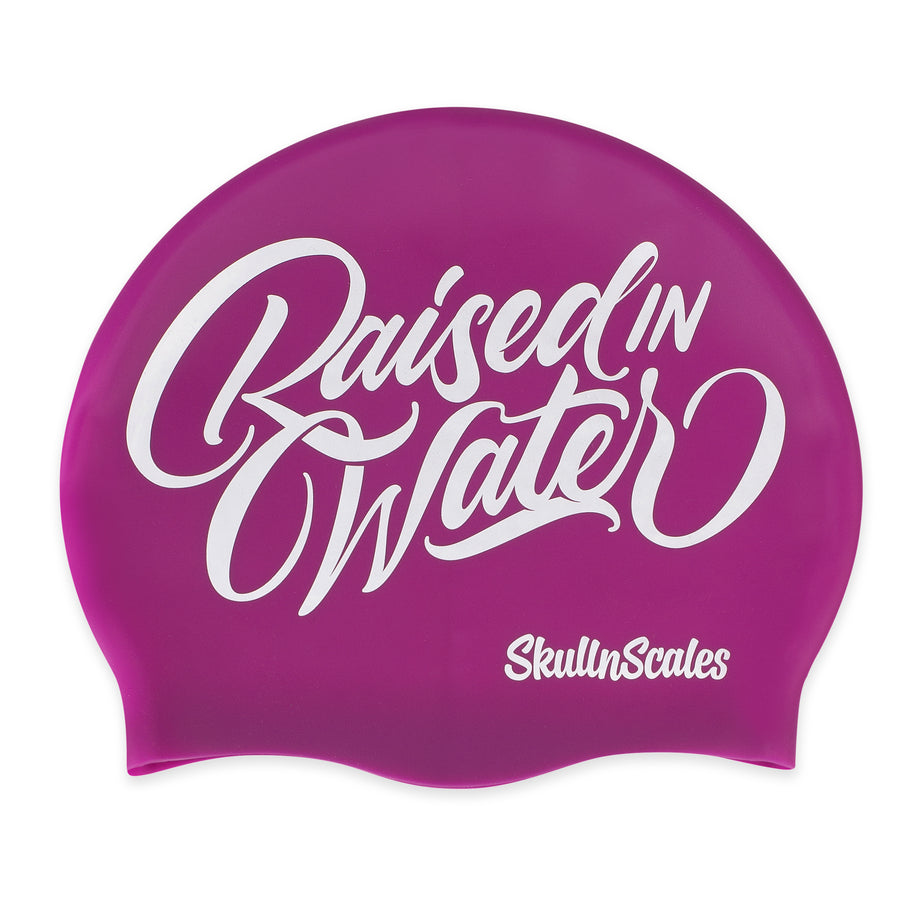 Purple Raised in Water Swimming Hat