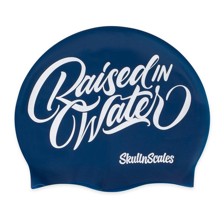 Raised in Water Swimming Hat - Navy