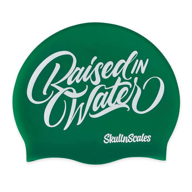 Green Raised In Water Swimming Hat