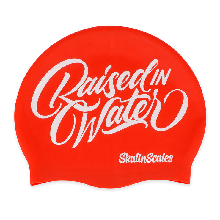 Red Raised In Water Swimming Hat