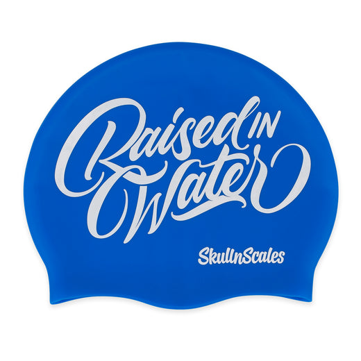 Blue & White Swimming Hat