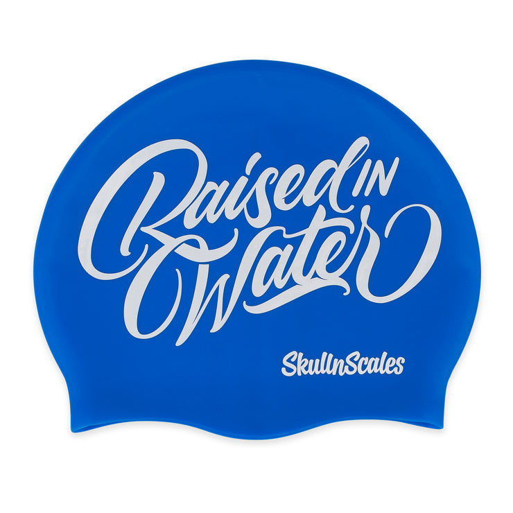 blue swimming hat