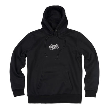 swimming hoodie in black front view