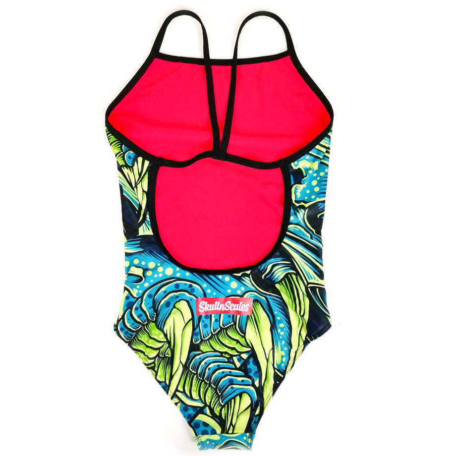 green dragon womens swimwear back